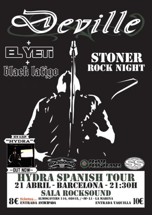 Deville + EL YETI + BLACK LATIGO 21/04 @ Rocksound (bcn)