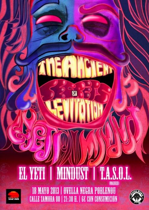 EL YETI + MINDUST + T.A.S.O.L. el sábado 18 de mayo!