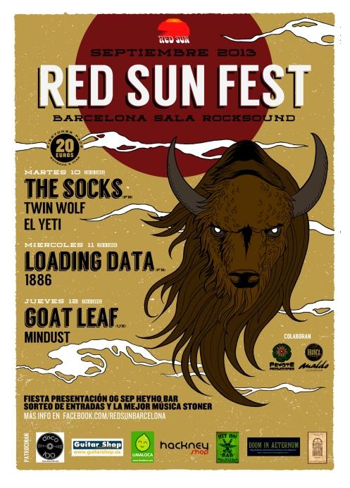 RED SUN FEST 10,11,12 sept bcn THE SOCKS, LOADING DATA, GOAT LEAF...