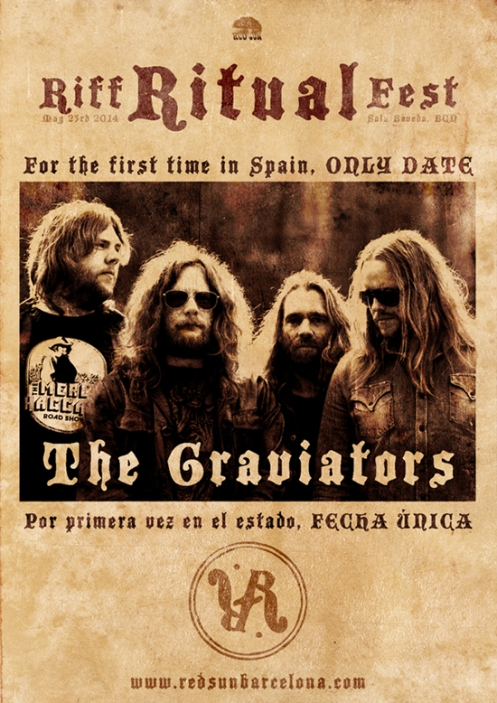 THE GRAVIATORS confirmados en RIFF RITUAL FEST!